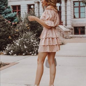 Blush/peach two piece skirt set